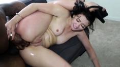 Big ass brunette creampied anal - Part 2 on pornurbate com