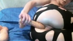 Horny Mom Drilled Her Pussy With Big Plastic Cock