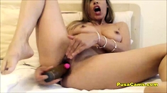 Horny Girl Squirts All Over The Cam