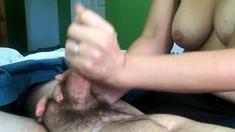 Topless Cock Stroking Till I Cum
