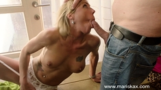 MARISKAX Blonde MILF Nikky Clarisse takes it in her ass