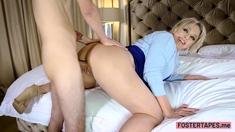 Dirty busty stepmom swallowed stepsons huge hard cock