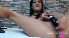 Hot Sexy Brunette Milf In Solo Masturbation