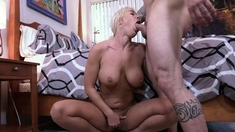 Big tit blonde mom taking cock